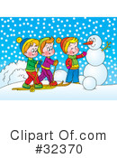 Skiing Clipart #32370 by Alex Bannykh