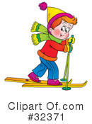 Skiing Clipart #32371