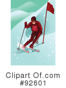 Skiing Clipart #92601