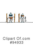 Skiing Clipart #94933 by NL shop