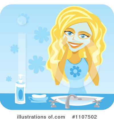 Royalty-Free (RF) Skin Care Clipart Illustration by Amanda Kate - Stock Sample #1107502