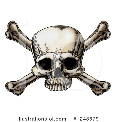 Skulls Clipart #1248679 by AtStockIllustration