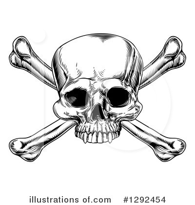 Skulls Clipart #1292454 by AtStockIllustration