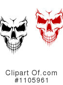 Royalty-Free (RF) Skull Clipart Illustration #1105961