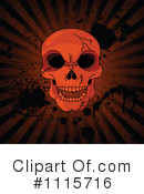 Royalty-Free (RF) skull Clipart Illustration #1115716