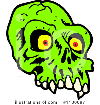 Skull Clipart #1130097 by lineartestpilot