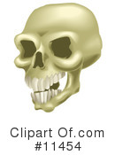 Royalty-Free (RF) Skull Clipart Illustration #11454