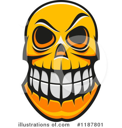 Royalty-Free (RF) Skull Clipart Illustration by Vector Tradition SM - Stock Sample #1187801