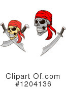 Skull Clipart #1204136 by Vector Tradition SM