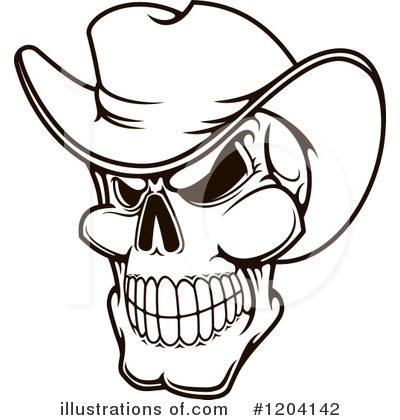 Cowboy Clipart #1204142 by Vector Tradition SM