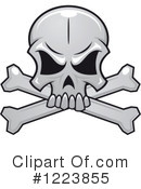 Royalty-Free (RF) Skull Clipart Illustration #1223855