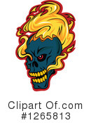 Royalty-Free (RF) Skull Clipart Illustration #1265813