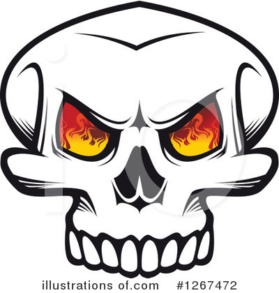 Royalty-Free (RF) Skull Clipart Illustration by Vector Tradition SM - Stock Sample #1267472