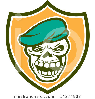 Royalty-Free (RF) Skull Clipart Illustration by patrimonio - Stock Sample #1274967
