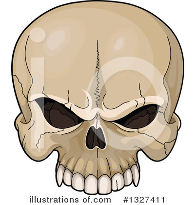 Skull Clipart #1327411 by Pushkin
