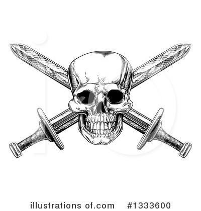 Skulls Clipart #1333600 by AtStockIllustration