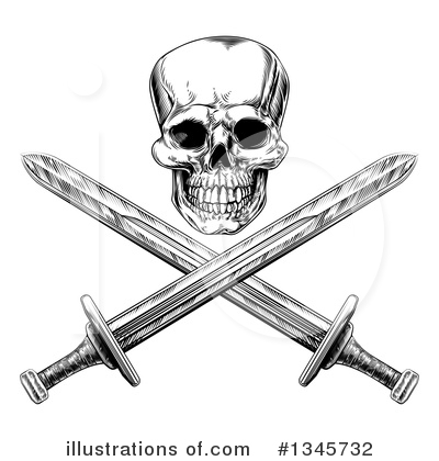 Skulls Clipart #1345732 by AtStockIllustration