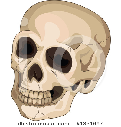 Skull Clipart #1351697 by Pushkin