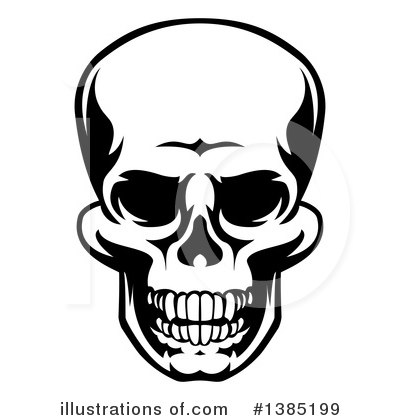 Skulls Clipart #1385199 by AtStockIllustration
