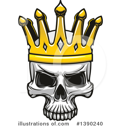Royalty-Free (RF) Skull Clipart Illustration by Vector Tradition SM - Stock Sample #1390240