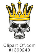 Royalty-Free (RF) Skull Clipart Illustration #1390240
