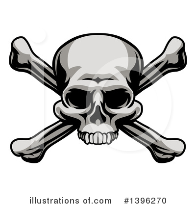 Skulls Clipart #1396270 by AtStockIllustration
