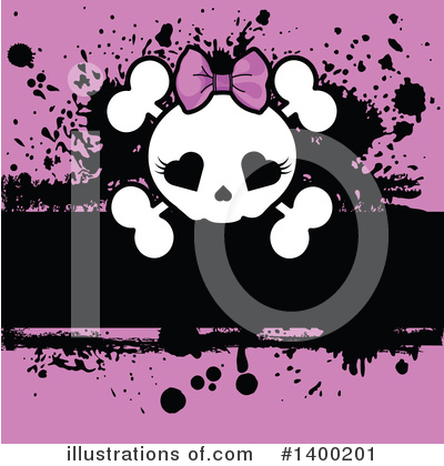 Skull Clipart #1400201 by Pushkin
