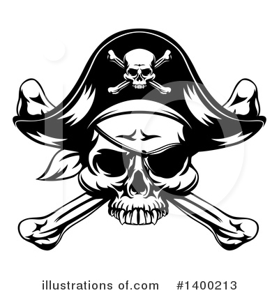 Skulls Clipart #1400213 by AtStockIllustration