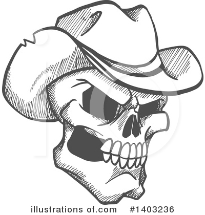 Cowboy Clipart #1403236 by Vector Tradition SM