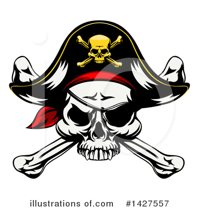 Pirate Clipart #1427557 by AtStockIllustration