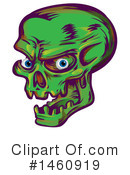 Royalty-Free (RF) Skull Clipart Illustration #1460919