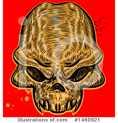 Skull Clipart #1460921 by Domenico Condello