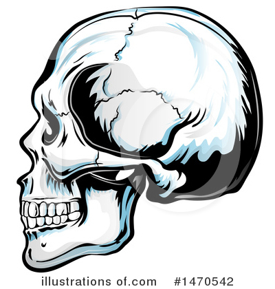 Royalty-Free (RF) Skull Clipart Illustration by Domenico Condello - Stock Sample #1470542