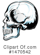 Skull Clipart #1470542 by Domenico Condello