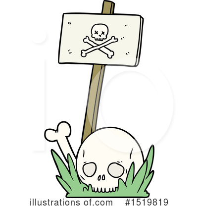 Skull Clipart #1519819 by lineartestpilot