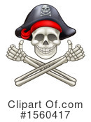 Skull Clipart #1560417 by AtStockIllustration