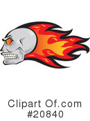 Royalty-Free (RF) Skull Clipart Illustration #20840