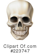 Royalty-Free (RF) Skull Clipart Illustration #223747