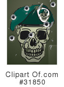 Royalty-Free (RF) Skull Clipart Illustration #31850