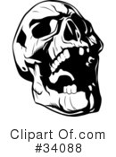 Skull Clipart #34088 by Lawrence Christmas Illustration