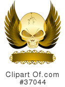 Royalty-Free (RF) skull Clipart Illustration #37044