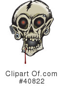 Skull Clipart #40822 by Dennis Holmes Designs