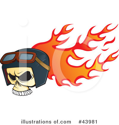 Royalty-Free (RF) Skull Clipart Illustration by Paulo Resende - Stock Sample #43981