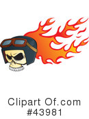 Royalty-Free (RF) Skull Clipart Illustration #43981