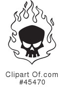 Skull Clipart #45470 by John Schwegel
