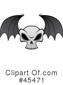 Skull Clipart #45471 by John Schwegel