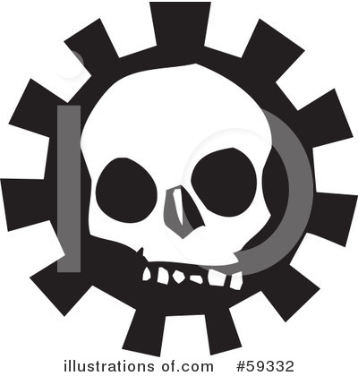 Royalty-Free (RF) Skull Clipart Illustration by xunantunich - Stock Sample #59332