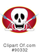 Royalty-Free (RF) Skull Clipart Illustration #90332
