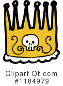 Skull Crown Clipart #1184979 by lineartestpilot