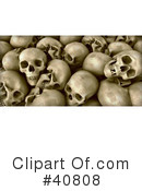 Skulls Clipart #40808 by Frank Boston